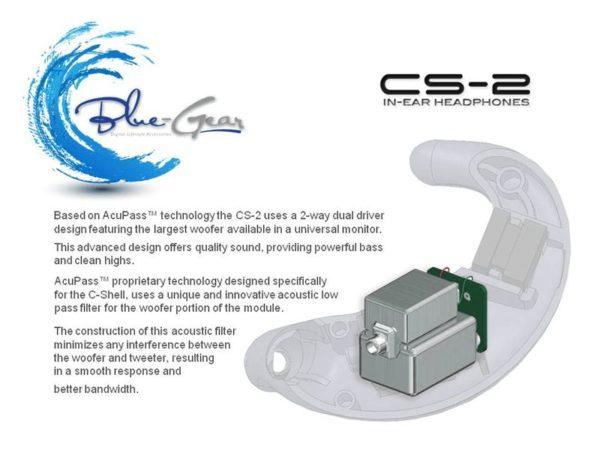 カナル型(ユニバーサル)イヤフォン:CS-2-Black:BlueGear 2
