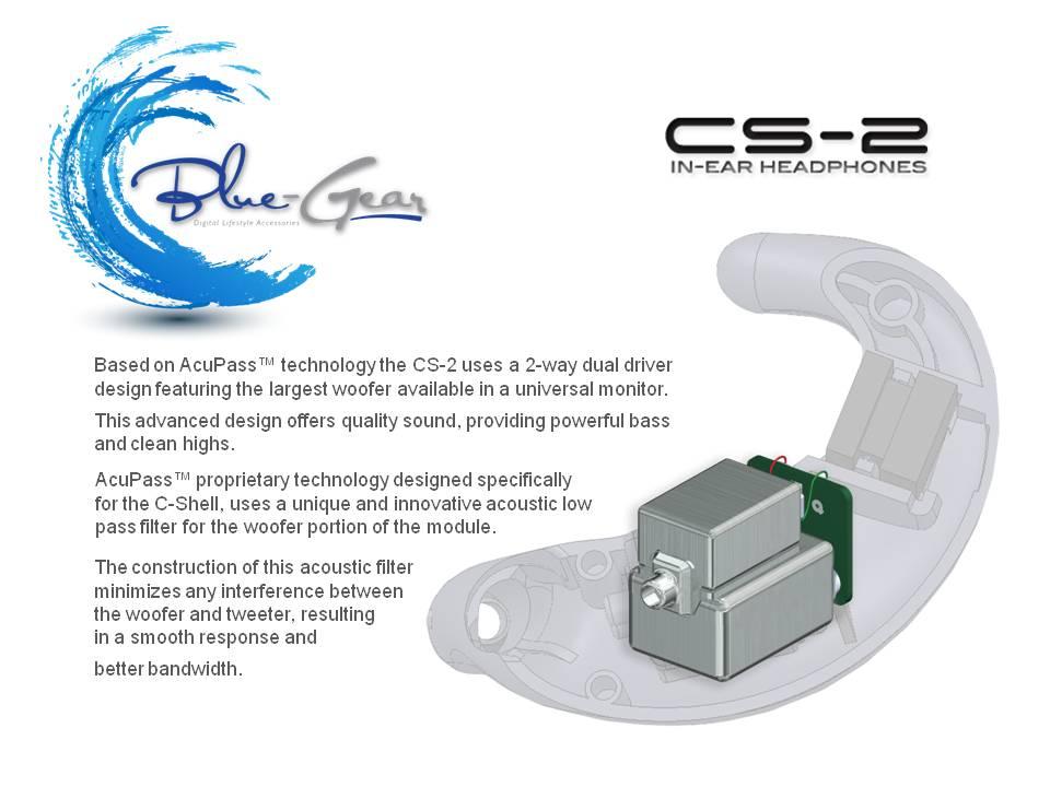 ユニバーサルカナル型イヤフォン BlueGear CS-2-Black