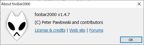 foobar2000 v1.4.7